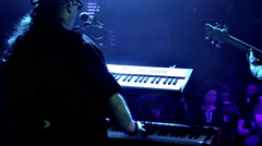Keyboardist and Bassist in Front of Audience Stock Footage