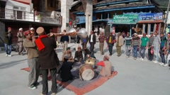 Musical ceremony in Himachal Pradesh,Manikaran,Himachal Pradesh,India Stock Footage