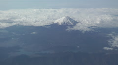 Stock Video Footage of Mt. Fuji Japan - Aerial shot - long shot