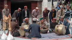 Musical ceremony,Manikaran,Himachal Pradesh,India Stock Footage