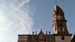 Timelapse Templo de San Francisco - San Miguel de Allende, MEXICO Stock Footage