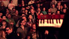 Audience Dancing and Clapping at Rock Concert - stock footage