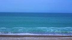 Black sea coast beach wave tide seashore ocean Stock Footage
