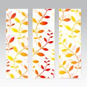 Colorful Vertical Set Of Floral Banners . Modern Vector Illustration - stock illustration