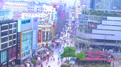Shanghai - Nanjing Road Stock Footage