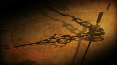 passing time clock face age future hour present season pace late schedule aging - stock footage