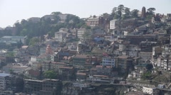 Overview Shimla hill with traffic,Shimla,Himachal Pradesh,India Stock Footage