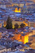 Cityscape at sunset, Granada, Andalusia, Spain Stock Photos
