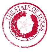 Texas State Rubber Stamp Seal - stock illustration