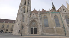 Matthia Curch in Budapest Stock Footage
