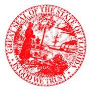 Florids State Seal - stock illustration
