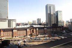 5K Motion Control Pan Time Lapse of Tokyo Station Daytime in Japan -Full Frame- Stock Footage