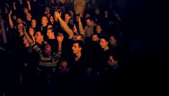 Audience at Rock Concert - stock footage