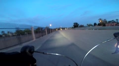 Road Biking  with Go-Pro Stock Footage