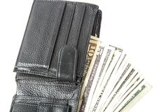 Dollars in the wallet . Stock Photos