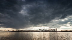 Storm clouds time-lapse in the typhoon Sky  Stock Footage