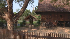 Household at Ancient Siam in Samut Prakan Province, Thailand Stock Footage