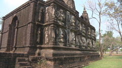 Stock Video Footage of Chedi Ched Yot at Ancient Siam in Samut Prakan, Thailand