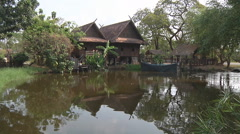 Household at Ancient Siam Park in Samut Prakan Province, Thailand Stock Footage