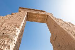 Entrance Of Dendera Temple Near The Kane Town In Egypt Stock Photos