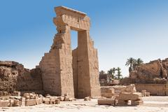 Entrance Of Ancient Egyptian Dendera Temple Egypt Stock Photos