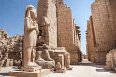 Colossal Statue Of Pharaoh At Karnak Temple, Luxor, Egypt Stock Photos