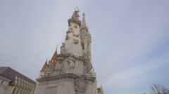 The Trinity Statue in Budapest Stock Footage
