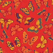 Seamless pattern with decorative butterflies Stock Illustration