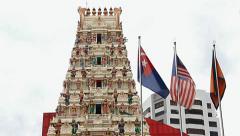 Arulmigu Rajamariamman Devasthanam temple, Hindu temple Stock Footage