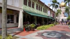 Muslim Quarter in Singapore Stock Footage