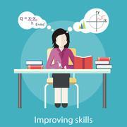 Improving Skills - stock illustration