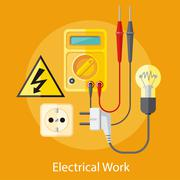 Electrical Work Concept Stock Illustration