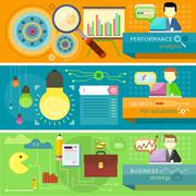 Strategy, search solutions, performance analysis - stock illustration