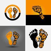 Footprint symbol Stock Illustration