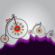 Stock Illustration of ride of happiness around the world