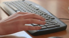 Female Hands Typing on Computer Keyboard Stock Footage