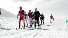 Etna Ski Alp - World Championship 2012 International Trophy Etna Stock Footage