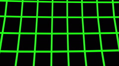 Stock Video Footage of Green wireframe moving from bottom to top. (loop ready file)