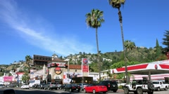 4K, UHD, Laugh Factory on Sunset Strip in Los Angeles, California Stock Footage