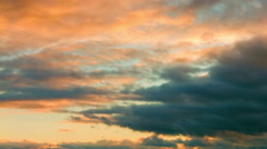 Evening sky with clouds Stock Footage