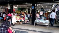Shenzhen, China: clothing street Stock Footage