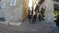 Barri Gothic in Barcelona, Spain. Stock Footage