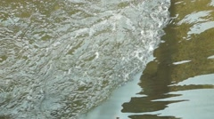 The rapids of the river - stock footage