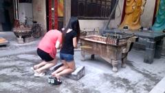 Shenzhen, China: Guan Gong Temple Stock Footage