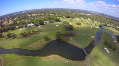 4k Aerial golf course and country club 4 Stock Footage