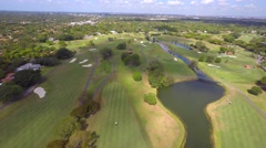 4k Aerial golf course and country club 5 - stock footage