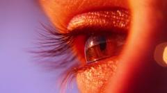 Eye close up_macro lens Stock Footage