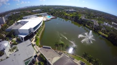 University of Miami 2 aerial 4k video Stock Footage