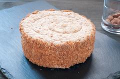 Torta Elvezia a typical cake from Mantua italy Stock Photos