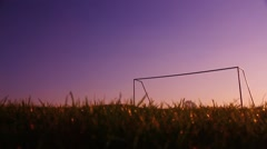 Sunset football pitch 2 Stock Footage